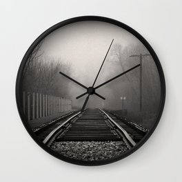 touched by fog Wall Clock
