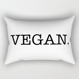 VEGAN. Rectangular Pillow