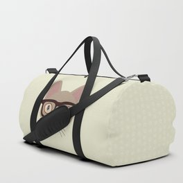 Hipster Siamese Cat Portrait Duffle Bag