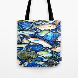 DEEP SALTWATER FISHING COLLAGE Tote Bag