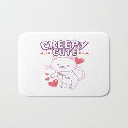 Creepy Cute Cat Kitten Anime Horror Kawaii Gift Bath Mat