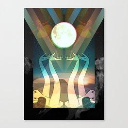 Ladies praying to the moon Canvas Print