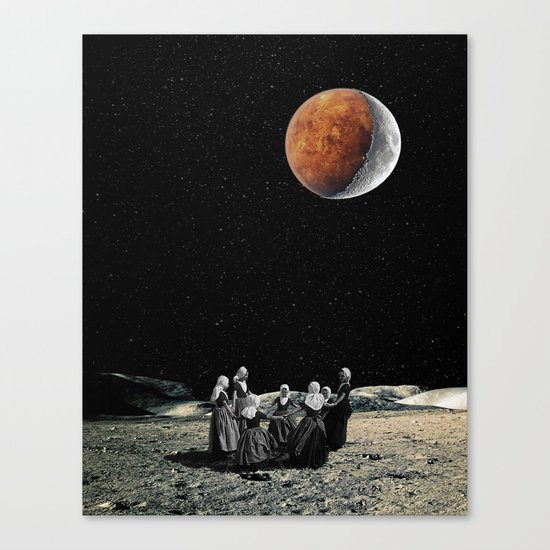 Celebration of the new Moon Canvas Print