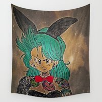 dragon ball Wall Tapestries featuring First Lady Of Dragon Ball  by Artistic