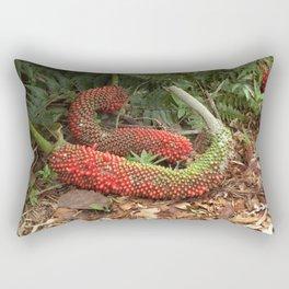 Bird's Nest Anthurium - Anthurium hookeri seed pods Rectangular Pillow