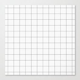 Thick windowpane grid Canvas Print