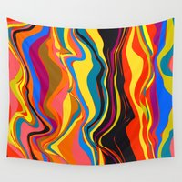african Wall Tapestries featuring African Heat by Matthias Hennig
