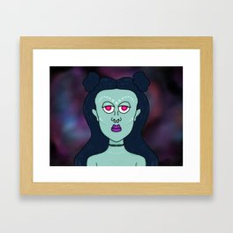 Supernova Girl Framed Art Print
