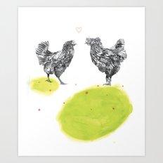 Chattin Art Print