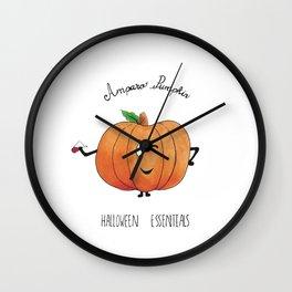 Amparo pumpkin Wall Clock