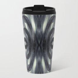 Stone Face Illusion of Fall Travel Mug
