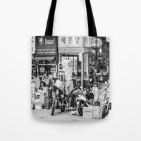 seoul Tote Bags featuring Everyday Seoul by Jennifer Stinson