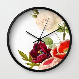 romantic floral design Wall Clock