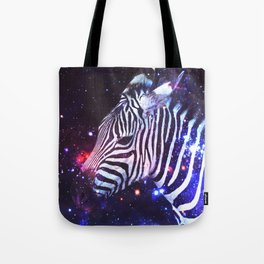 Spacey Zebra Tote Bag
