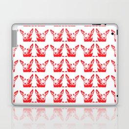 Mitzi red and white, pattern Laptop & iPad Skin