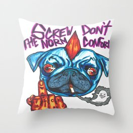 Screw The Norm Throw Pillow
