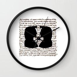 IL DIVIN POETA Wall Clock