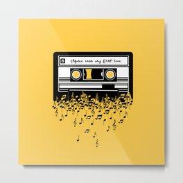 Retro Tape Metal Print