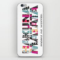 hakuna iPhone & iPod Skins featuring Hakuna Matata by Amy Copp