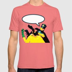 Robin and Bat Man in Action SMALL Mens Fitted Tee Pomegranate