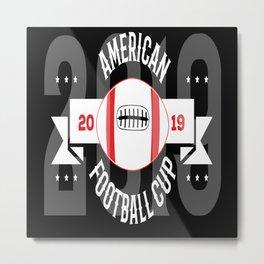 Football Ball Metal Print