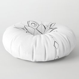 Modern Lotus for Body and Soul Floor Pillow