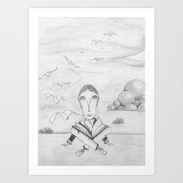 Reading enhances creativity Art Print