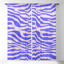 Zebra blue and pink pattern Sheer Curtain