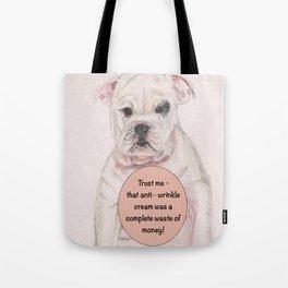 Bulldog humour Tote Bag