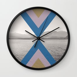 Boho Arrows of Lake Wanaka Wall Clock