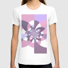 Mauve Lavender Puce Kaleidoscope T-shirt