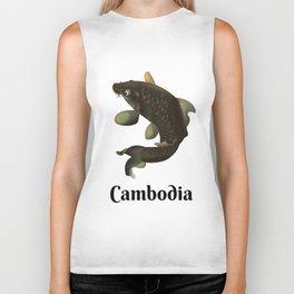 Cambodia travel poster Biker Tank