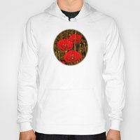 poppies Hoodies featuring Poppies by Pirmin Nohr
