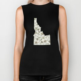 Idaho in Flowers Biker Tank
