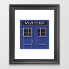 Tardis - Doctor Who Framed Art Print