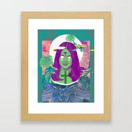 lanadelrey trippy eye Framed Art Print