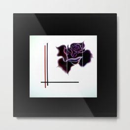 Abstract in perfection - Fertile Imagination Rose 5 Metal Print
