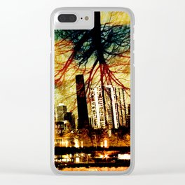Darkness Tree - Double Exposure Clear iPhone Case