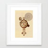 mandie manzano Framed Art Prints featuring hypnotism by dvdesign
