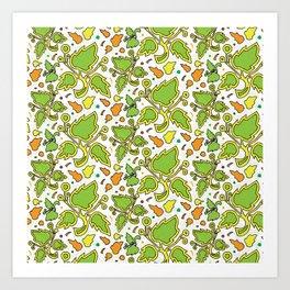 Fresh Leaves Art Print