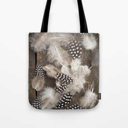 Feathers of guinea fowl Tote Bag