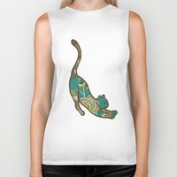 jewish Biker Tanks featuring I love you, kitten by Brown Eyed Lady
