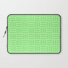 Basketweave (White & Light Green Pattern) Laptop Sleeve