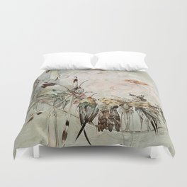"""""""Exotics at Play"""" by Duncan Carse Duvet Cover"""