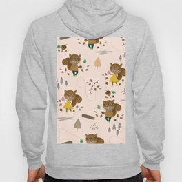Mr and Mrs Squirrel Apricot Background Hoody
