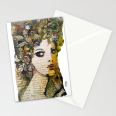 Fragment of a portrait Stationery Cards