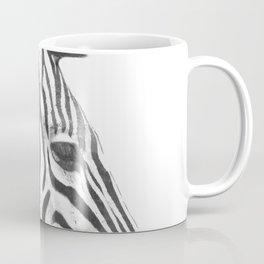 Black and White Zebra Profile Coffee Mug