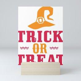 Halloween Trick or Treat Witch Hat Mini Art Print