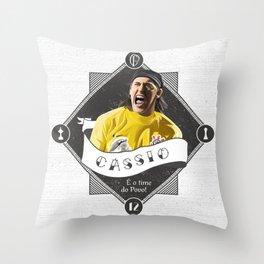 Cássio / É o Time do Povo Throw Pillow