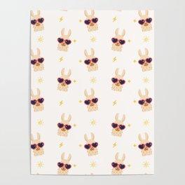 Hipster Llamas Poster